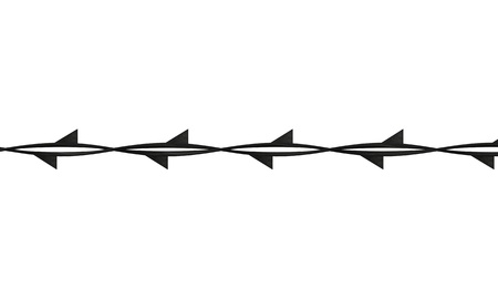 barbed wire fence: 3d render of barbed wire
