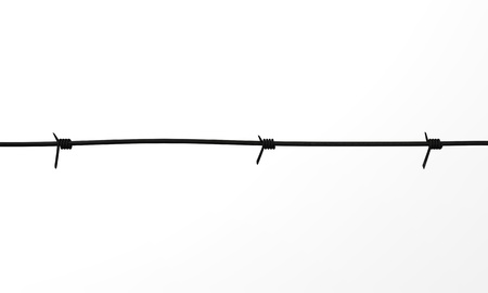 3d render of barbed wire photo