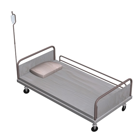 3d render of bed furniture photo