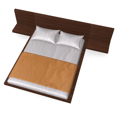matress: 3d render of bed furniture