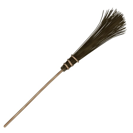 besom: 3d render of besom (broom)  Stock Photo
