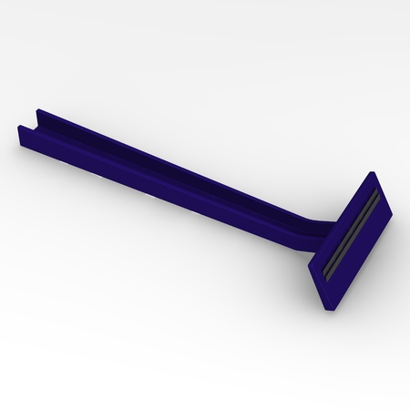 3d render of razor blade photo