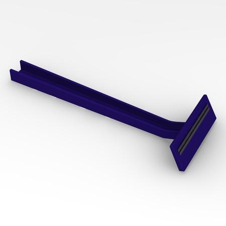 3d render of razor blade photo