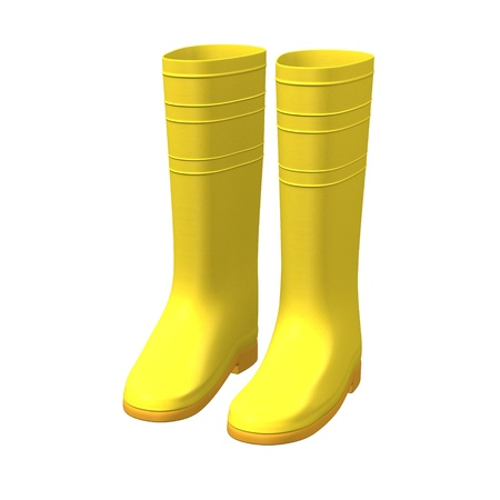 gum boots: 3d render of gum boots  Stock Photo