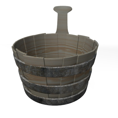 bucket water: 3d de cubo de agua