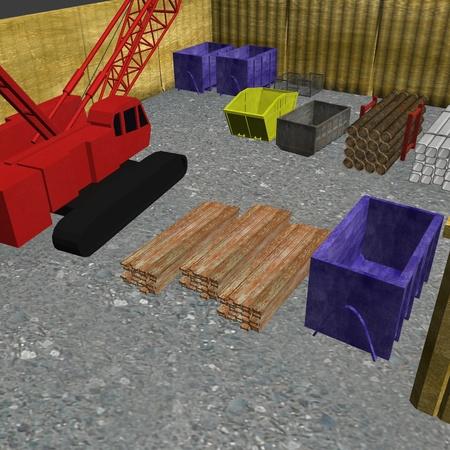 3d render of building site photo