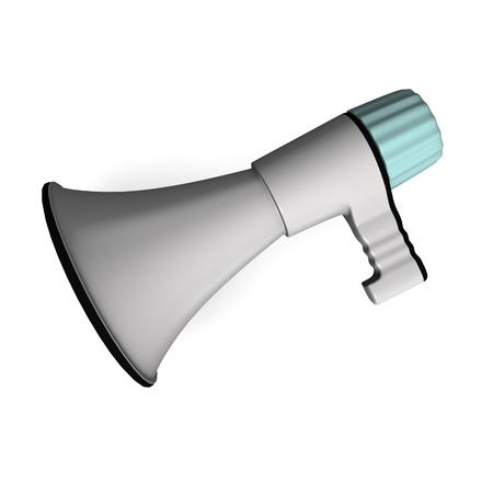 3d render of bull horn