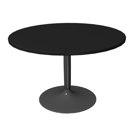 vizualisation: 3d render of cafe table