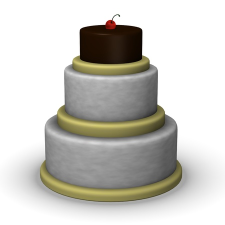 tort: 3d render of delicious cake  Stock Photo