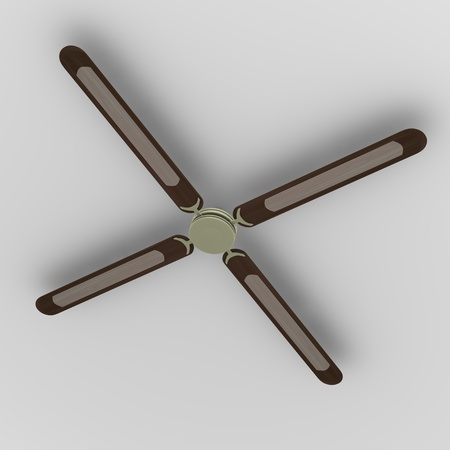ceiling fan: 3d render of ceiling fan