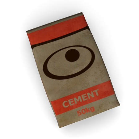 Rendu 3D de sac de ciment Banque d'images