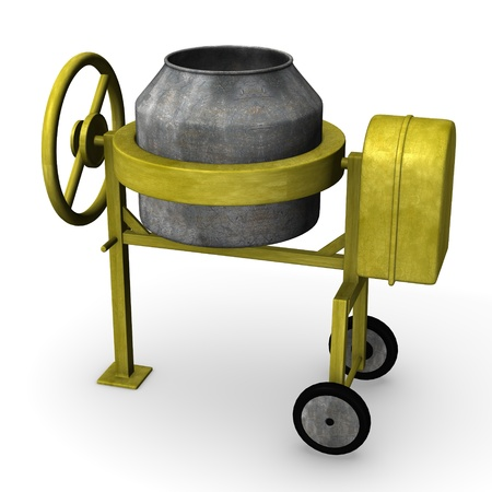 3d render of cement mixer photo