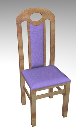3d render of modern chair photo