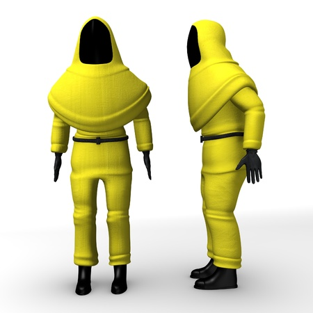 3d render of protective suit Stock Photo - 12907216