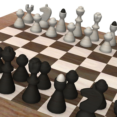 3d render of chess board  Stock Photo - 12906410