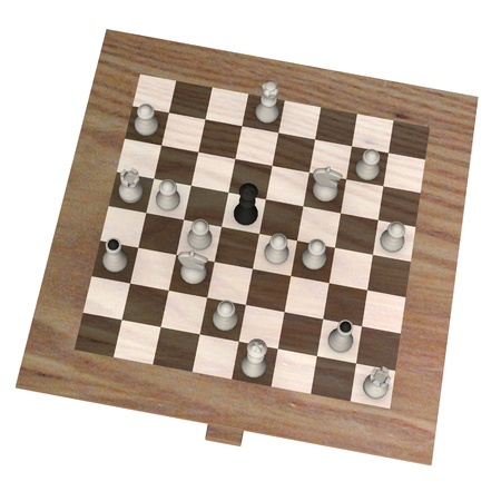 3d render of chess board  Stock Photo - 12914113