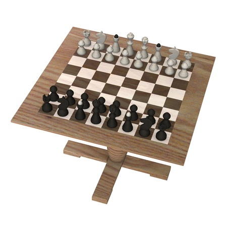 3d render of chess board  Stock Photo - 12906488