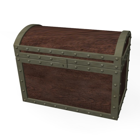 3d render of old massive chest Stock Photo - 12907951