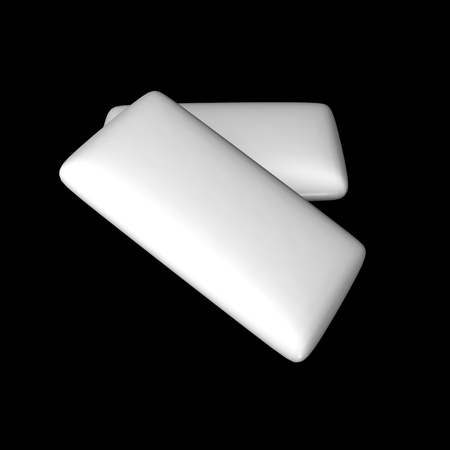 chewing gum: 3d render of chewing gum