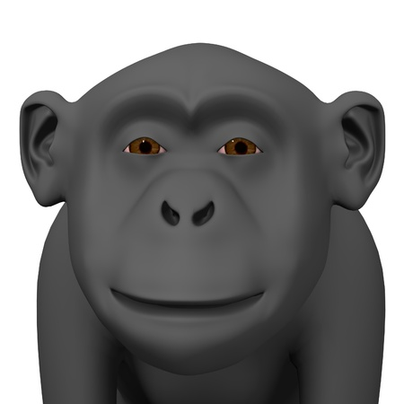 3d render of chimpanzee monkey  Stock Photo - 12909498