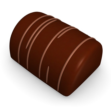 comfit: 3d render of chocolate candy