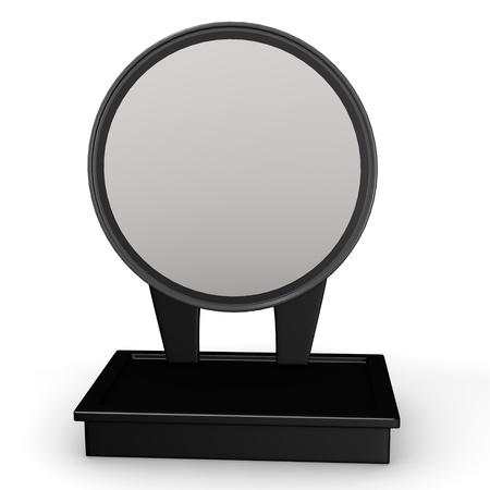 3d render of cosmetics mirror photo