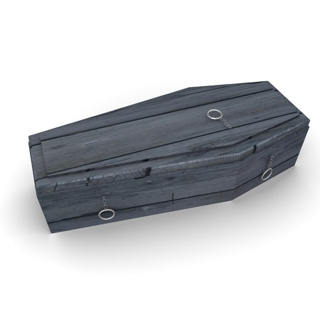 3d render of coffin (cemetery coffin)