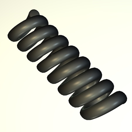 mech: 3d render of industrial part (metal component)  Stock Photo