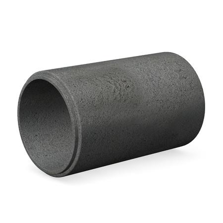 concrete pump: 3d render of concrete pipe Stock Photo