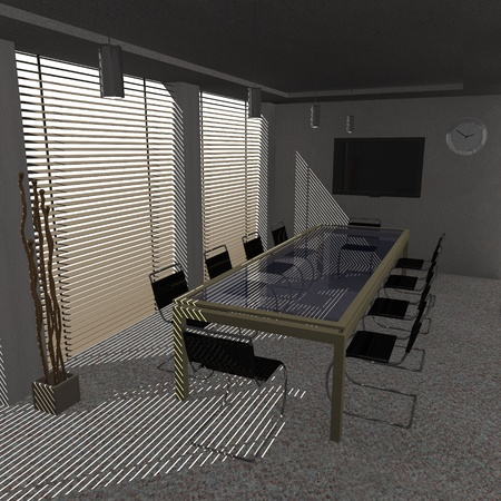 3d render of conference room photo