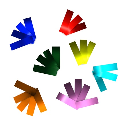 chads: 3d render of confetti colourfull paper pieces
