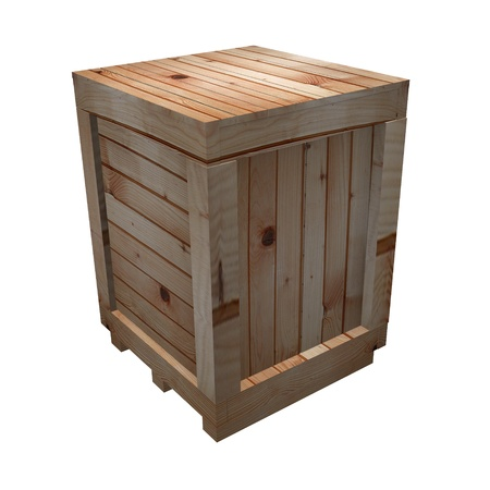 3d render of wooden crate Stock Photo - 12906333