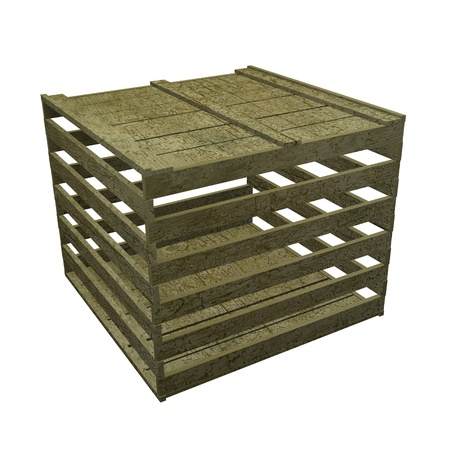 3d render of wooden crate Stock Photo - 12906304