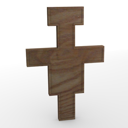 3d render of wooden crucifix Stock Photo - 12911425