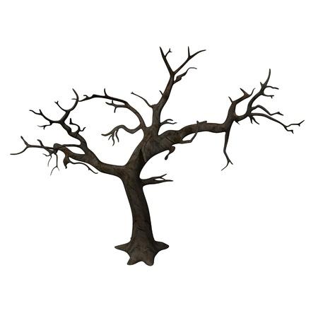 dead tree: 3d render of dead tree Stock Photo