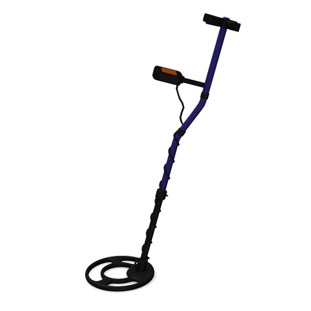 metal detector: 3d render of metal detector