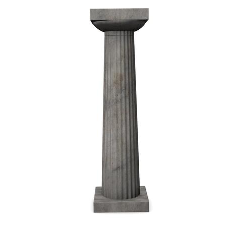 doric: 3d render of doric column