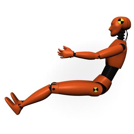 Rendu 3D de mannequin d'essai accident de voiture Banque d'images - 12911373