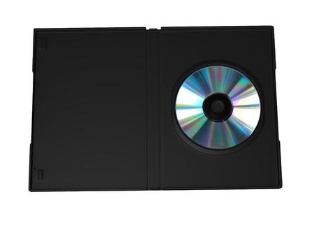 3d render of  dvd case  photo