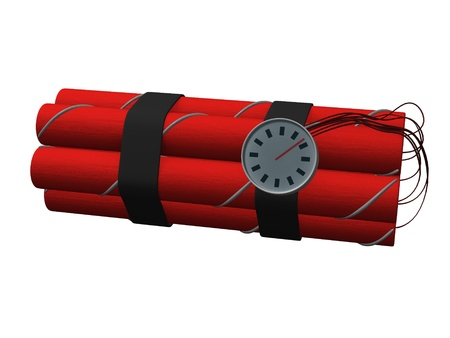 3d render of dynamite bomb Stock Photo - 12911498