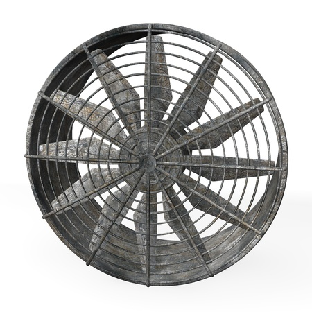 3d render of large industrial fan  photo