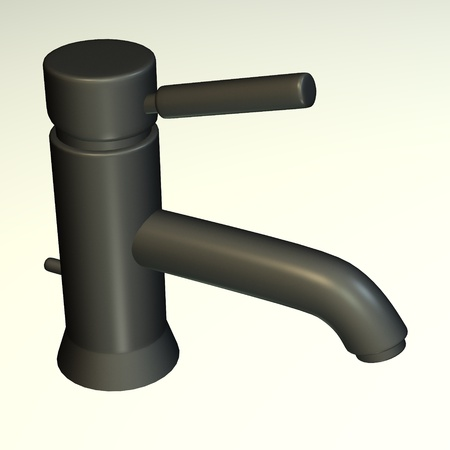 capon: 3d render of modern water faucet