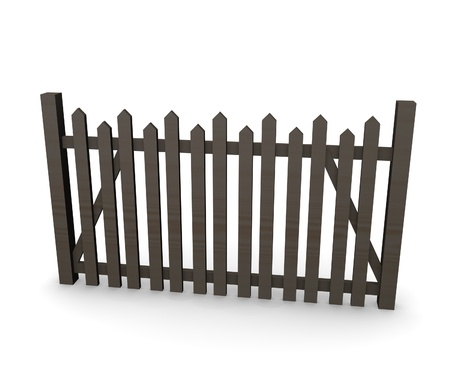 3d render of fence (architecture exterior element) Stock Photo - 12909554