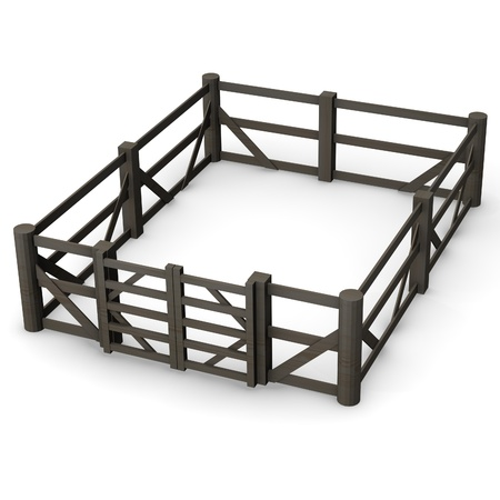stockade: 3d render of fence (architecture exterior element)