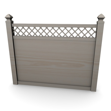 3d render of fence (architecture exter element)  Stock Photo - 12910009