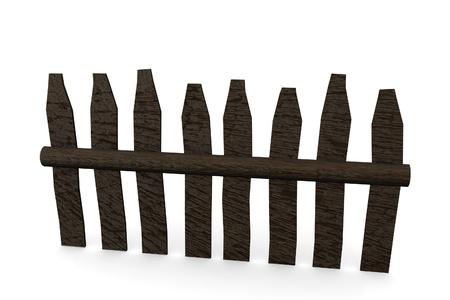 3d render of fence (architecture exterior element)  Stock Photo - 12909959