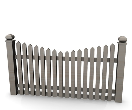 3d render of fence (architecture exterior element)  photo