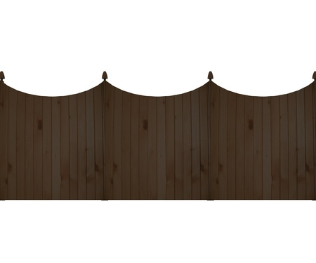 3d render of fence (architecture exterior element)  Stock Photo - 12909597
