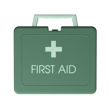 3d render of first aid kit box