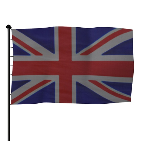 3ds: 3d render of flag (gb )